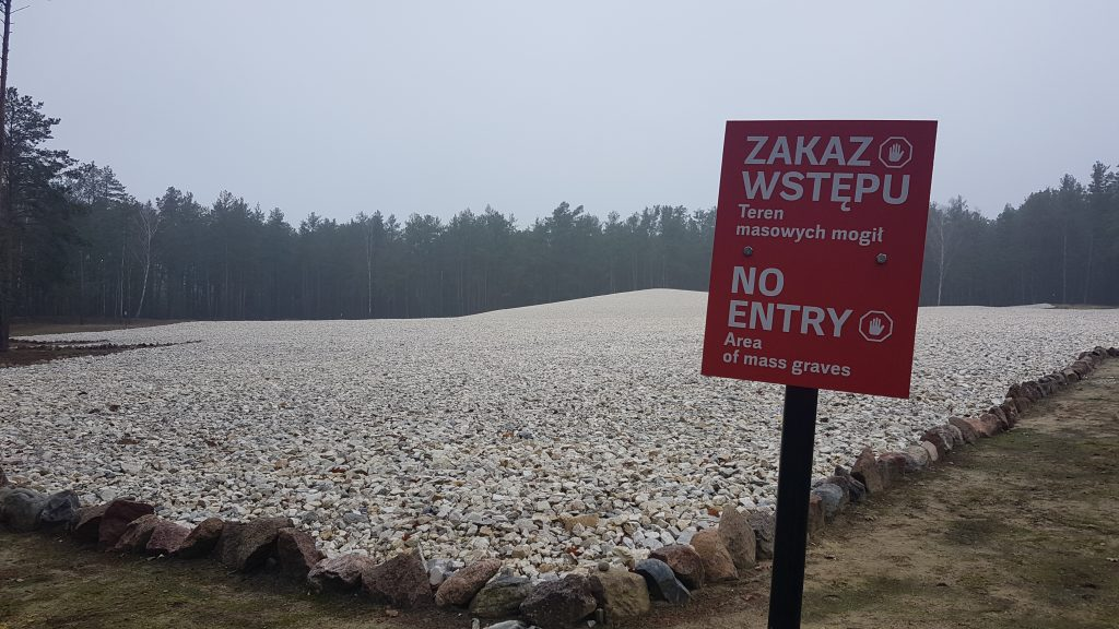 Nazi extermination camp at Sobibór. The location and extent of the graves was determined by augering. The graves have not been exhumed but protected in perpetuity. Photo: Zuzanna Dziuban