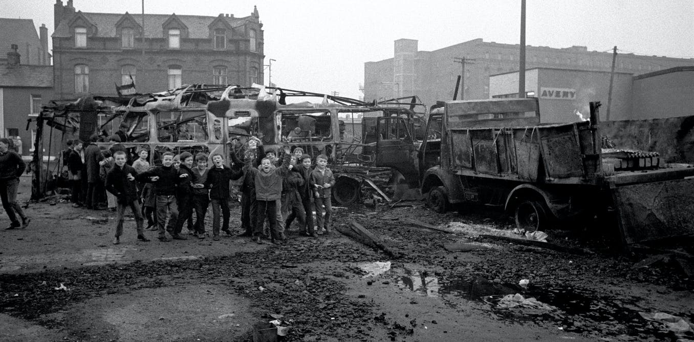 The aftermath of riots in Belfast, 1971. PA/PA Archive/PA Images