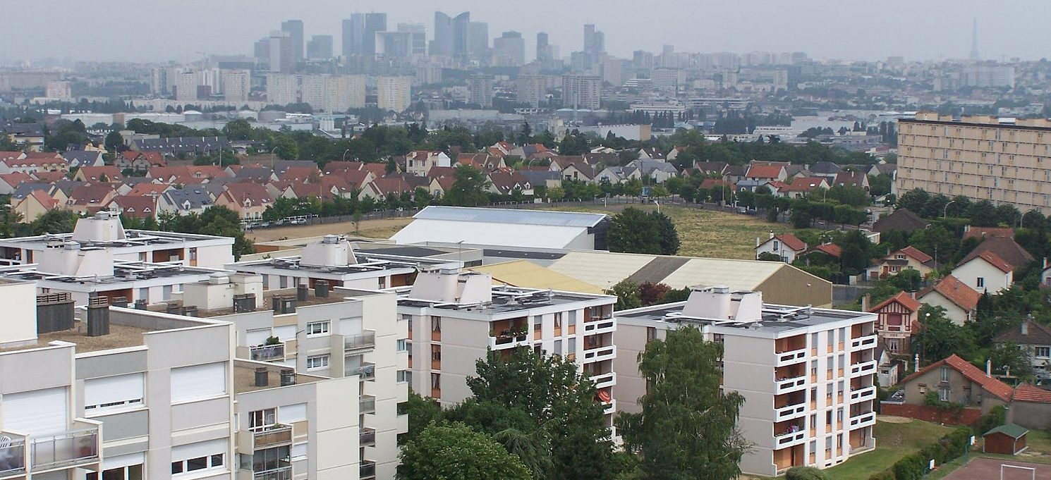 View of Chatou, a banlieue west of Paris