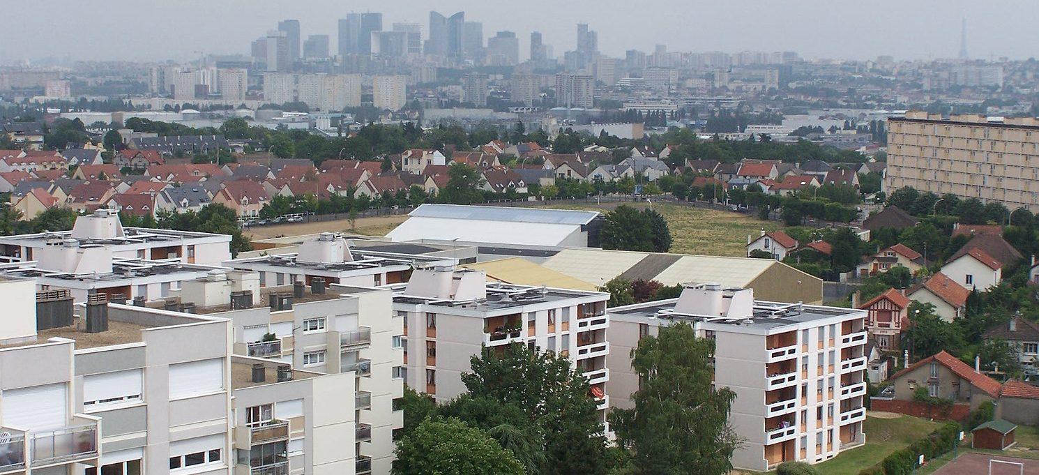 View of Chatou, a banlieue west of Paris