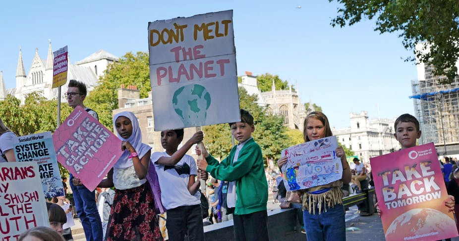 Children join the 20th September 2019 climate strike in London, thought to be the largest climate strikes to date. World History Archive / Alamy Stock Photo